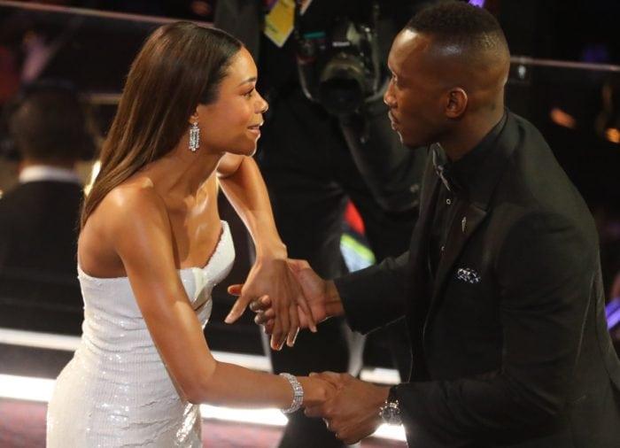 89th Academy Awards - Oscars Awards Show - Hollywood, California, U.S. - 26/02/17 - Actors Mahershala Ali and Naomie Harris. REUTERS/Lucy Nicholson