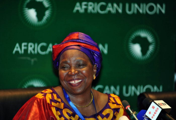 Minister Nkosazana Dlamini-Zuma is seen at a news conference at the African Union headquarters in Addis Ababa in Ethiopia at the weekend, July 2012. Dlamini-Zuma was elected as commission head of the African Union.<br />