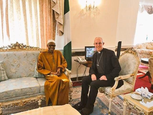 Archbishop of Canterbury visits Nigeria's President, Muhammadu Buhari in London