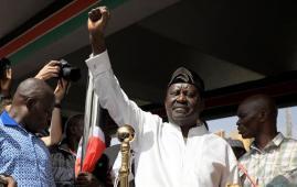 Kenya's opposition leader Raila Odinga