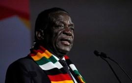 Zimbabwe's president, Emmerson Mnangagwa