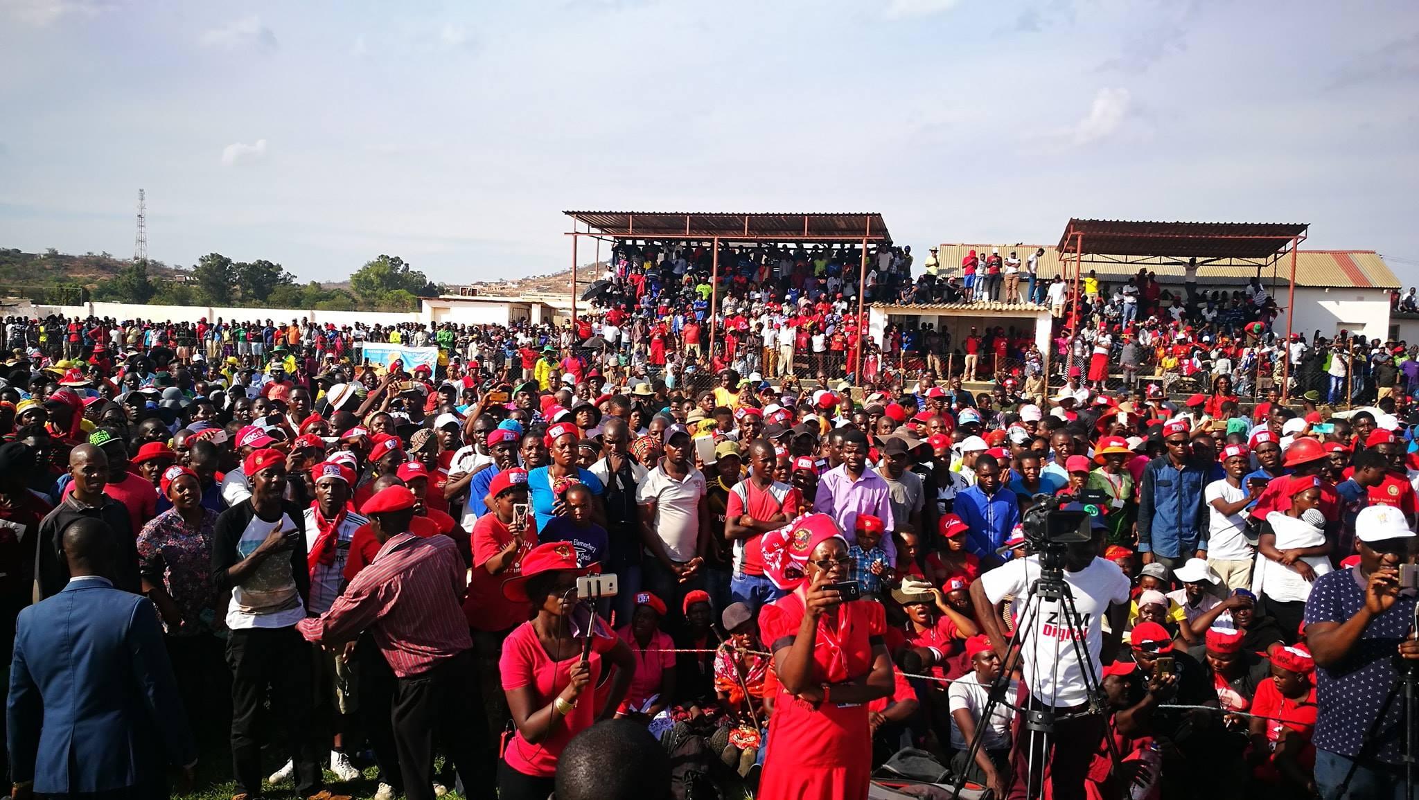 MDC Nelson Chamisa Gwanda Thank You rally