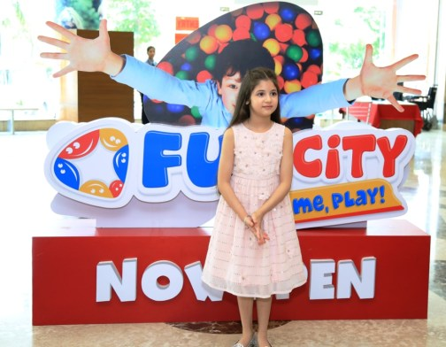 Harshali Malhotra at Ambience Mall for the inauguration of Fun City