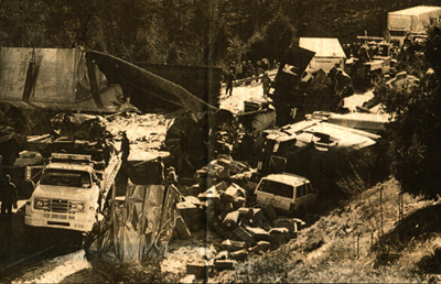 Four people were killed in this 1999 accident that happened around the I-81 Buffalo Creek Bridge. The pile-up involved eight tractor-trailers and eight cars. (Photo: THE NEWS-GAZETTE)
