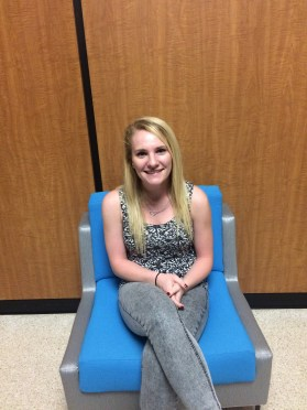 Karyn Reynolds is a nursing major at Kent State and feels completely safe on campus. Photo by Elizabeth Randolph.