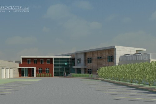 Rendering of what the new Kent police station will look like from DS Architecture, a Kent-based architecture firm.