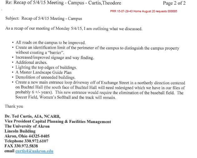Recap of May 4 Meeting