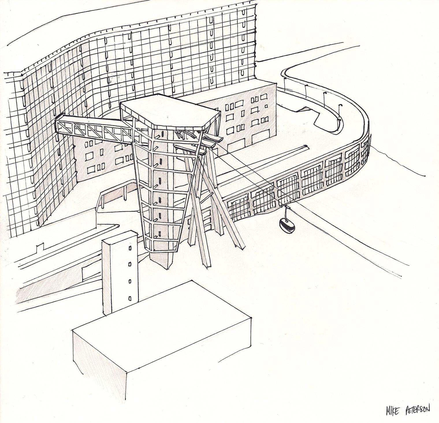 Portland Aerial Tram Sketch