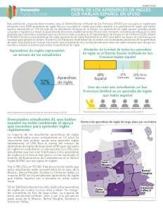2020 Perfil de los Aprendices de Inglés Que Hablan Español en SFUSD