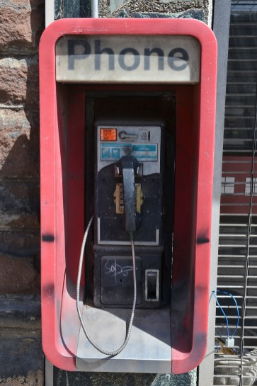 The dead payphone downtown