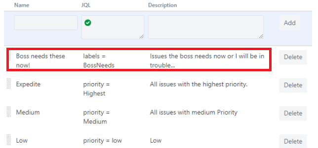 JQL Jira Swimlanes Sort by Priority