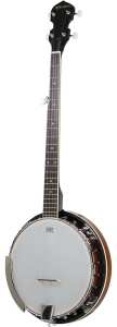 five-String Banjo 24 Bracket with Closed Solid Back and Geared 5th Tuner