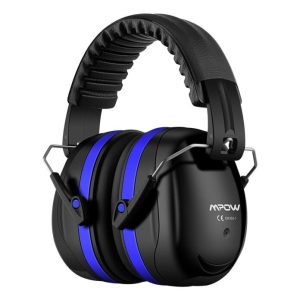 Mpow Noise Reduction Safety Ear muffs, SNR 34dB Shooting Hunting Ear Muffs, Professional Hearing Protection with a Carrying Bag, Adjustable Folding Ear Defenders Fits Adults to Kids for Shooting Range
