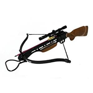 5 150lbs Crossbow with Scope, Extra Arrows and Rope Cocking Device