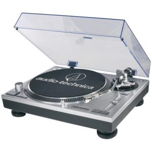 Audio-Technica AT-LP120-USB USB and Analog Professional Silver Turntable