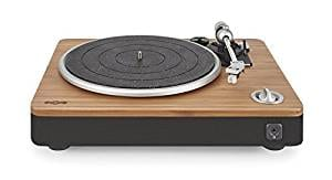 House of Marley Stir It Up Turntable with bonus Bob Marley Legend Album, Signature Black (EM-JT000RC-SB)