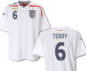 England Home Shirt 2007 to 2009