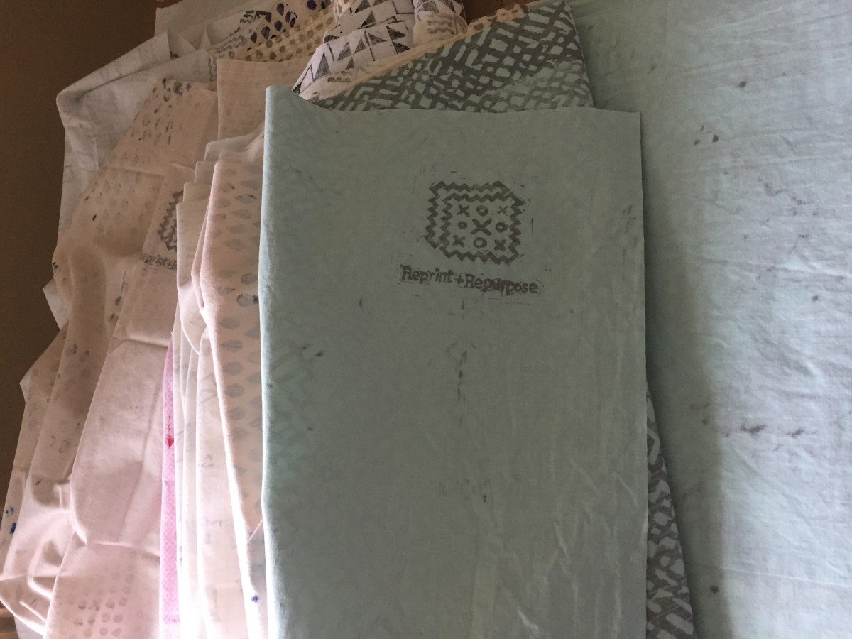 Monthly fabric bundle from reprint and repurpose