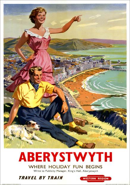 'Aberystwyth', BR(WR) poster, 1956.