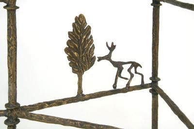 Giacometti Cypress Tree Console Detail Bronze