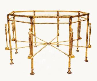 Diego Giacometti Caryatids Octagonal Table