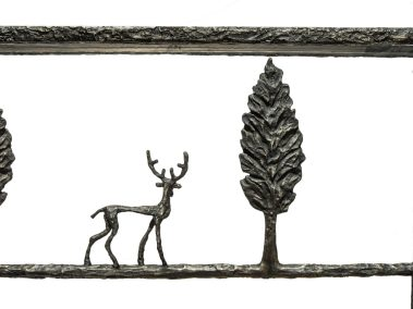 Giacometti Console with Stag Details
