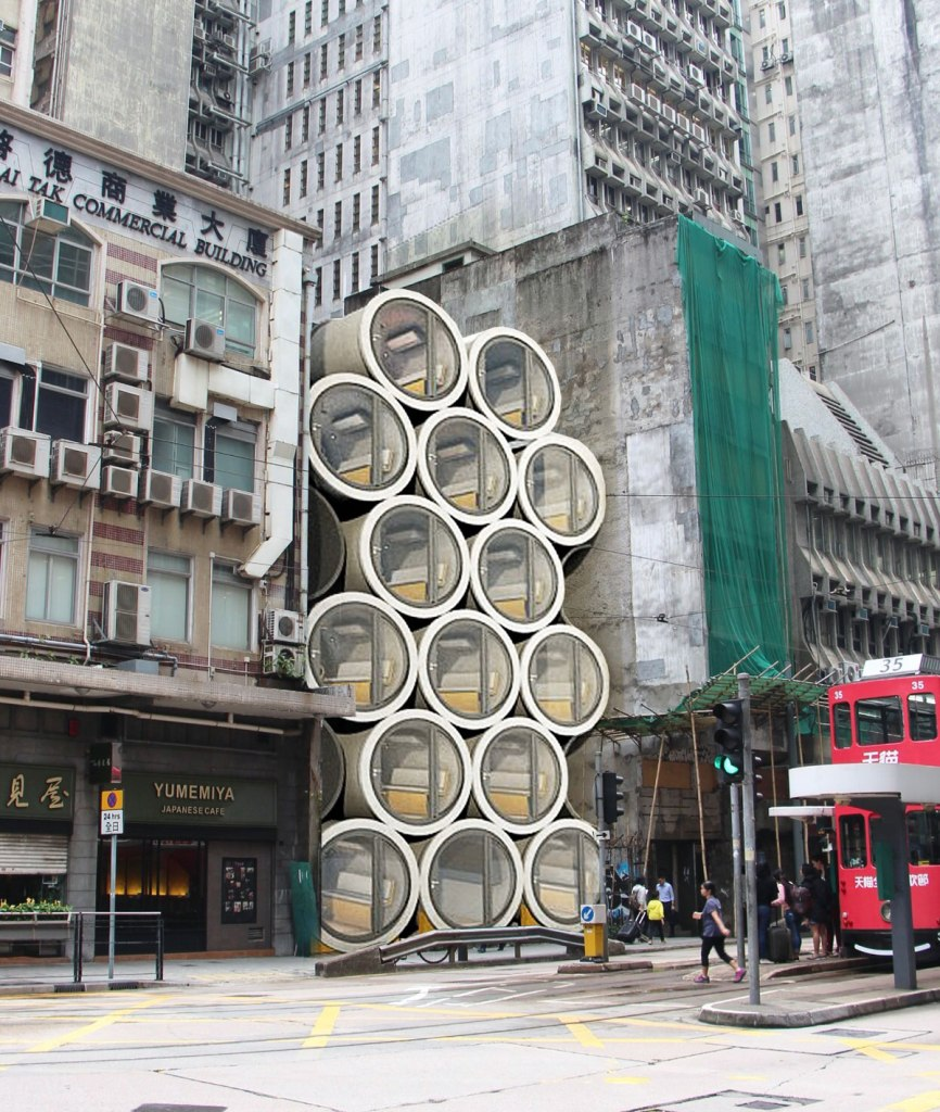 Opod Tube House Hong Kong Repurposed Water Pipe