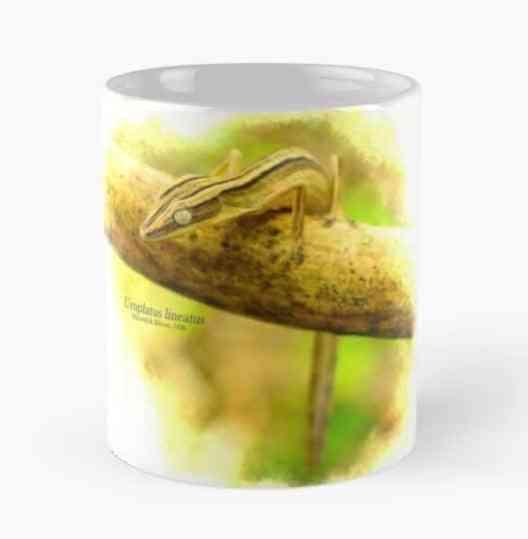gifts for reptile lovers 2019 - uroplatus lineatus mug