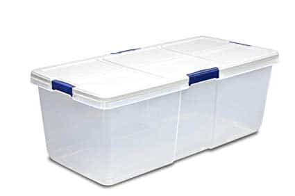 plastic tub reptile enclosure