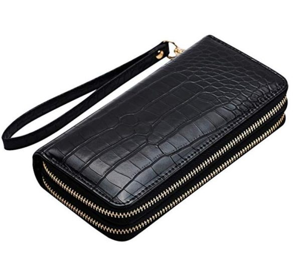 alligator print wallet - gifts for reptile lovers 2019