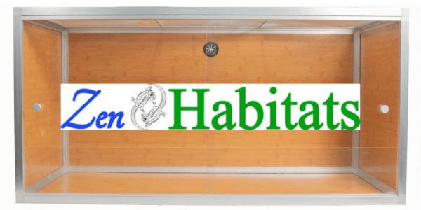 Zen Habitats 4'x2'x2' Reptile Enclosure and logo