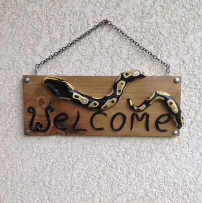 reptile welcome signs - reptile gifts for Christmas