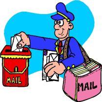 Mailman delivering lettter