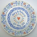 10 Personalised wedding plate