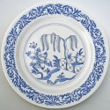 16 Delft Chinoiserie plate