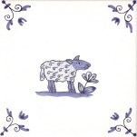 Delft Animal tile 15