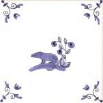 Delft Animal tile 26