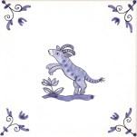 Delft Animal tile 5