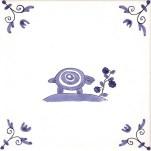 Delft Animal tile 8