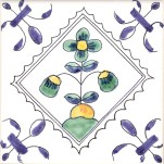 Delft flower tile 10