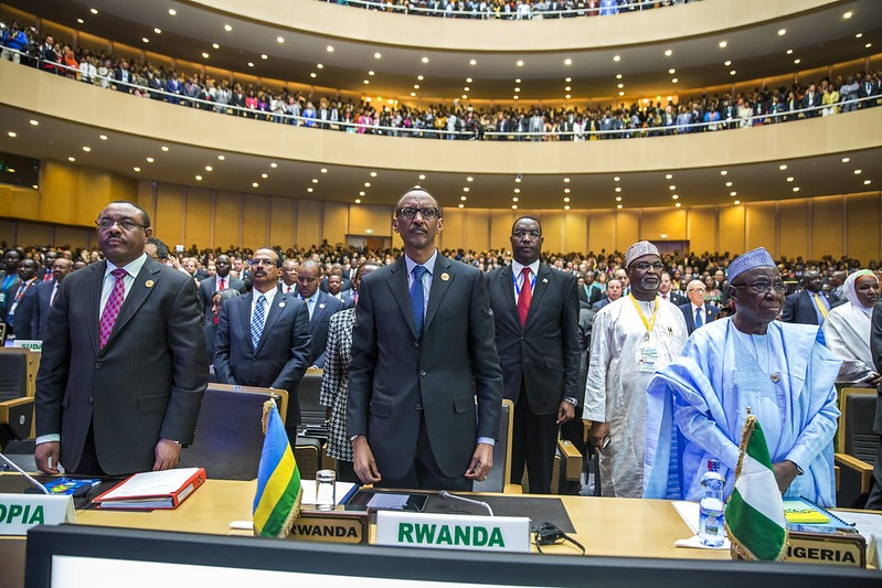 Paul Kagame at an African Union summit