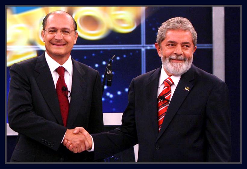 Geraldo Alckmin e Luiz Inácio Lula da Silva.
