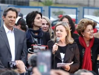 Dilma, Haddad, Gleisi, Manuela