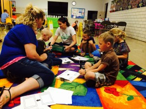 Submitted Photo The Grundy R-5 Elementary School has been holding a Back to School Summer Camp this week. Students have participated daily in three centers including, Intelligent Readers, Magic Writers and Word Wranglers.