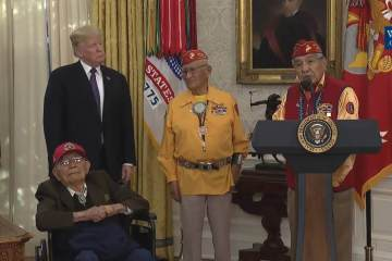 President Trump Honors Code Talkers