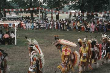 (Public Domain) Grand Entry Omaha. Photo taken by Dorothy Sarah Lee on 13 AUG 1983. Call Number: AFC 1986/038: FCP/0-DSL2-6. https://commons.wikimedia.org/wiki/File:Grand_Entry_Omaha.jpg