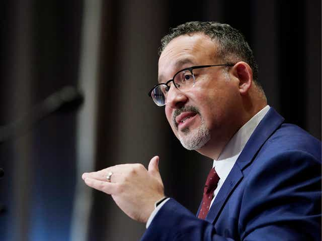 Ed. Sec'y Cardona Won't Say Some Districts Opening Too Slowly, Says School Officials Still Following Science
