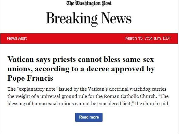 The Washington Post Is Shocked the Pope Is Catholic and Is Now Reconsidering Its Views on the Scatological Habits of Wild Bears – RedState