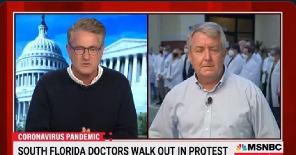 As the Press Condemns Pandemic Politicization Morning Joe Misrepresents a Press Conference as a 'Doctors Walkout' Protest – RedState