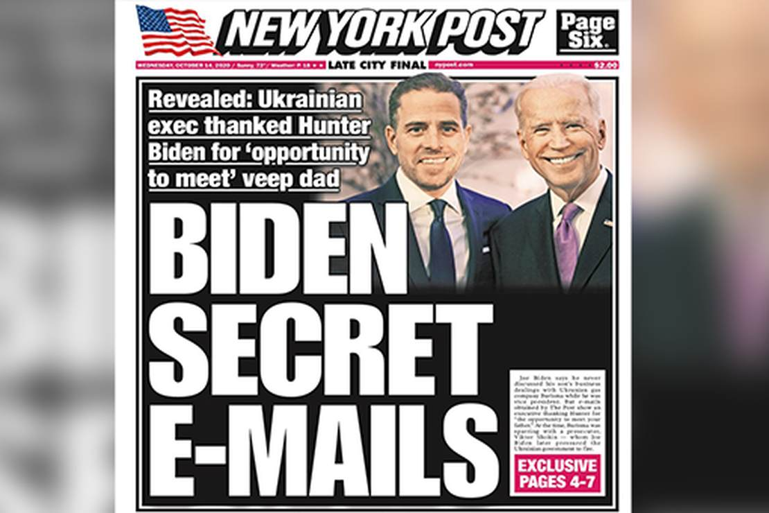 New York Post Pens Delicious 'Toldjah So' After Politico 'Confirms' Some Hunter Biden Laptop Emails – RedState